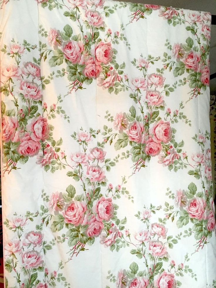 Details About Laura Ashley Cottage Roses Twin Size