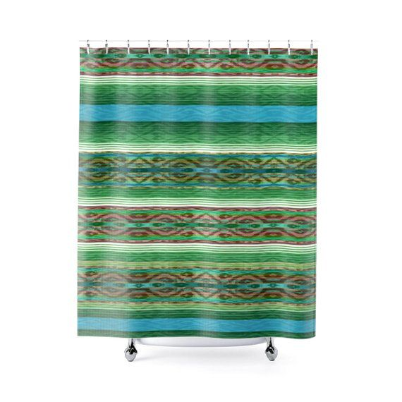 Colorful Shower Curtain Boho Shower Curtain Farmhouse Shower