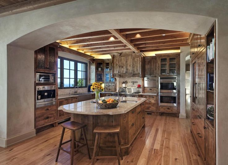 view this great rustic kitchen in santa barbara ca the home was built in 2006 and is 5243 square feet discover browse thousands of other home design - Kitchen Design Ideas Pinterest