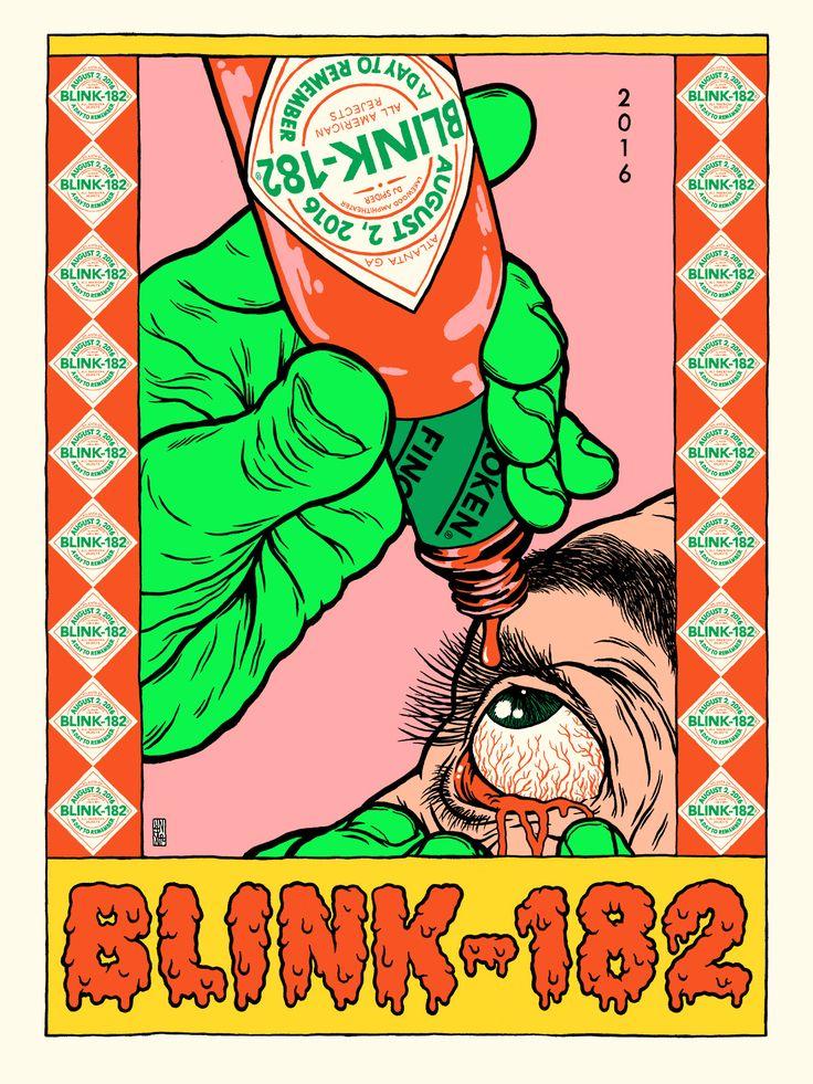 broken fingaz blink blink-182 gig poster graffiti street art israel bfc unga…
