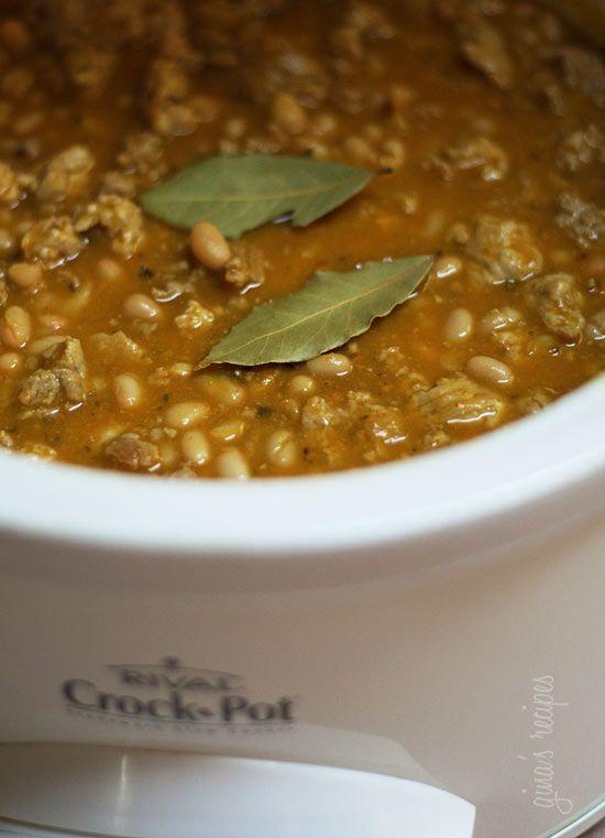Crock Pot Turkey White Bean Pumpkin Chili   Skinnytaste