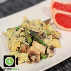 Asparagus and mushroom scrambled eggs | VideoMealsOnline ...
