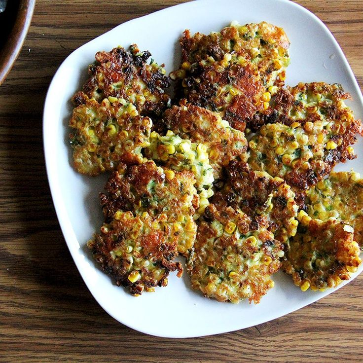 Corn Fritters with Cheddar and Scallions Recipe on Food52. Adapted from Deborah Madison's Local Flavors, these crispy fritters are loaded with corn. They have great flavor thanks to lots of herbs, scallions, and Cheddar.