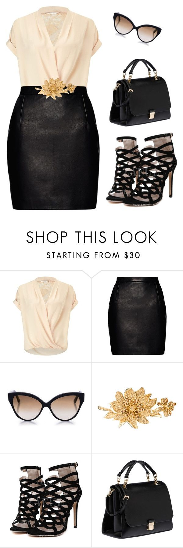 """""""Full figured outfit"""" by makeuphobbyist ❤ liked on Polyvore featuring Miss Selfridge, Magda Butrym, Cutler and Gross, Judith Leiber and Miu Miu"""