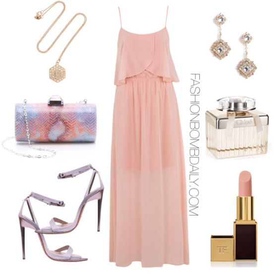 Pink Maxi Dress · Baby Shower Outfit For GuestBaby ...