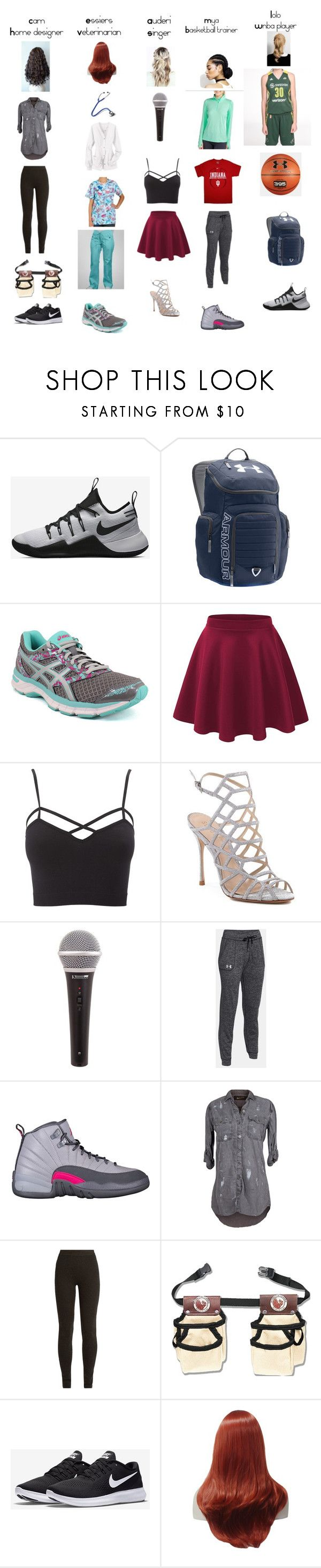 """""""BFF// future career👩🏼🎓"""" by narwale-13 ❤ liked on Polyvore featuring NIKE, Under Armour, Asics, Charlotte Russe, Schutz, The Nu Vintage, Ryan Roche and plus size clothing"""