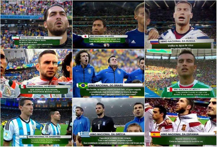 Confira as paródias feitas com os hinos das seleções da Copa pela rede - Fotos - R7 Copa do Mundo 2014