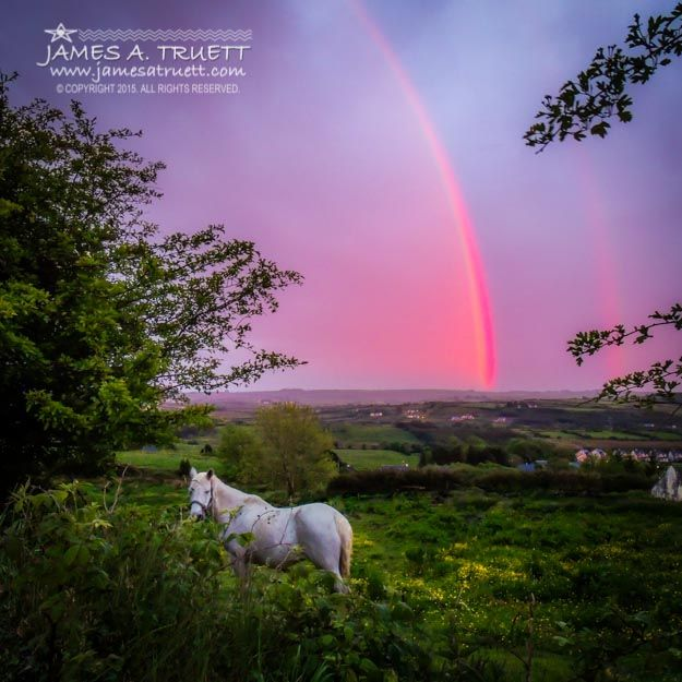 A Monochrome Rainbow at Sunset In County Clare