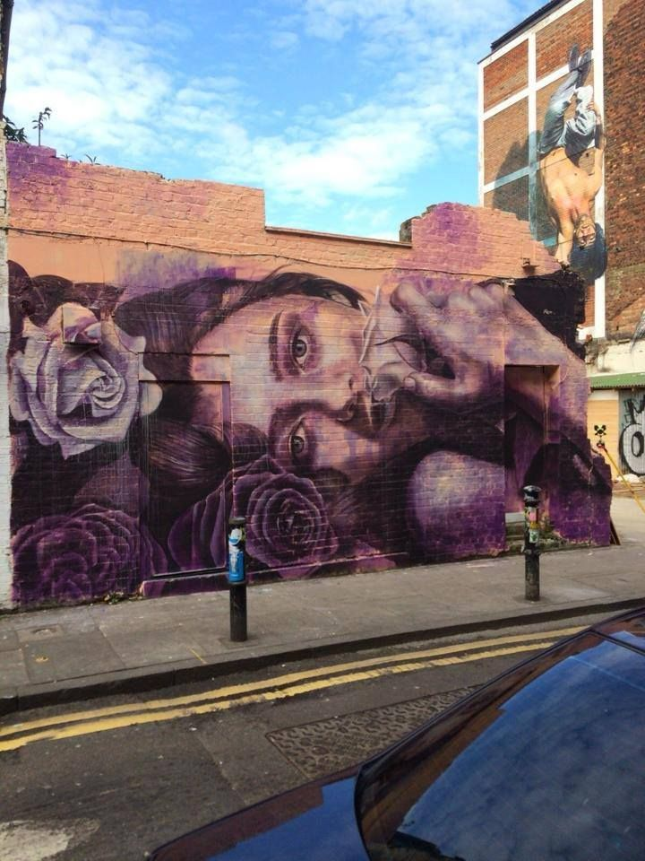 Artist : Rone – A New Mural in Shoreditch, London