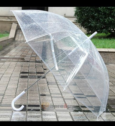 Open style:auto Overall length: 82cm Diameter when open :114cm Rib number: 8 Handle color: white  Handle material: plastic  Shaft material: steel   NOT DOME UMBRELLA
