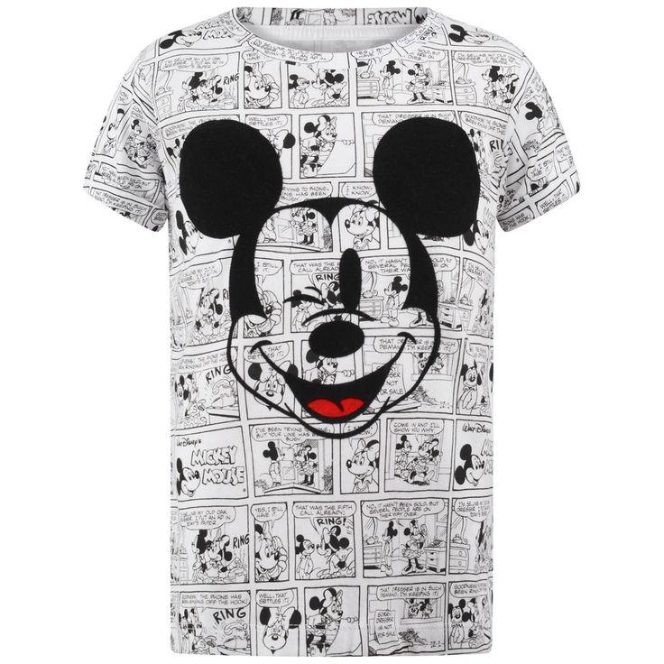 Little Eleven Paris White Mickey Comic Strip Top