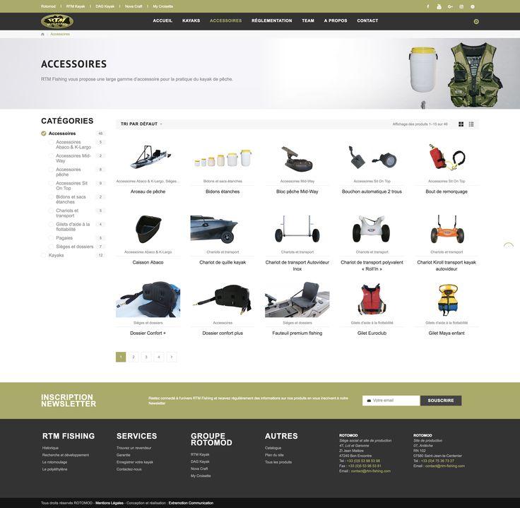 Site internet RTM Fishing - Extremotion Communication