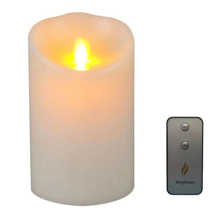 Flameless Moving Wick Candle Battery Operated Flickering Remote Control Timer #candle #flameless #deals #sales #ebay