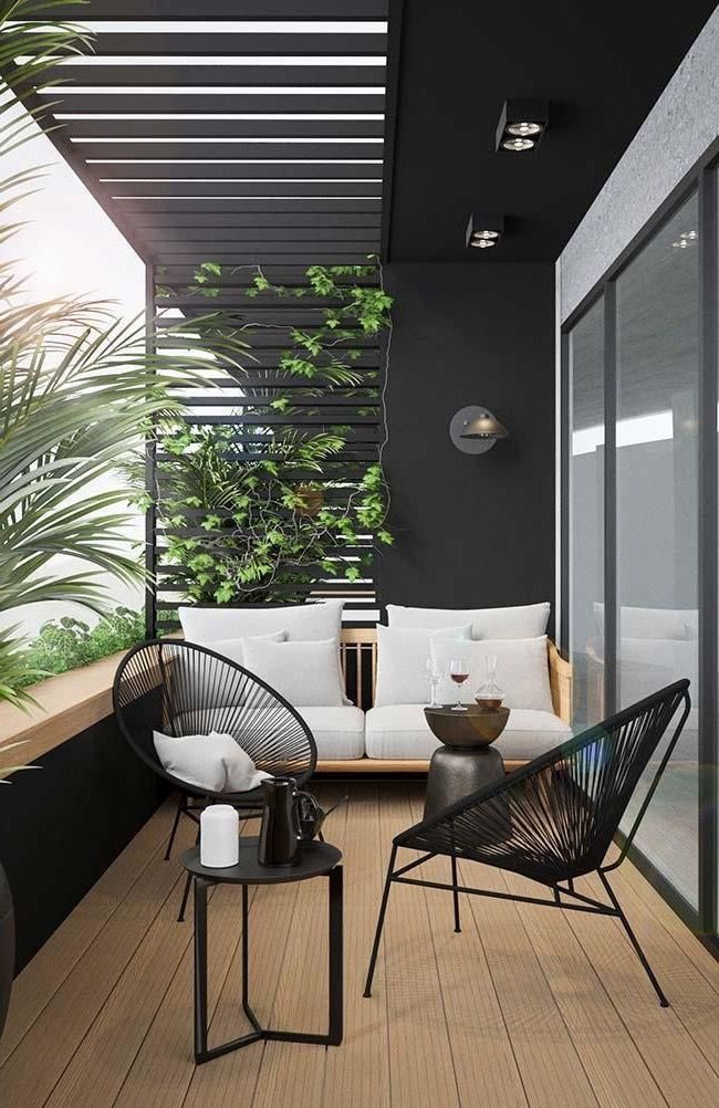 Love the mid-century moody look of this terrace., #View …