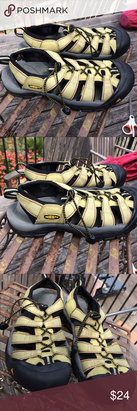Keen women's waterproof sandals Lightly used and in great condition. Nice light lime green color. Keen Shoes Athletic Shoes