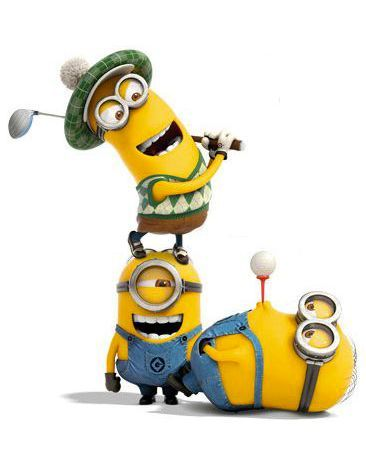 Golfing with the Minions, it's tee time!