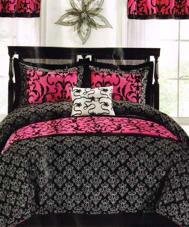 Pem America Black Amp Pink Dreams Of Paris Comforter Set
