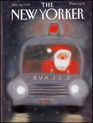 in so many words...: New Yorker Christmas Covers - Artist: Davis, 1990
