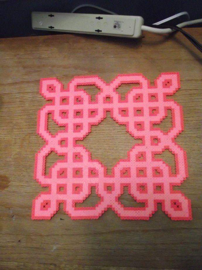 Biscornu Knot perler beads by Soggy_Enderman