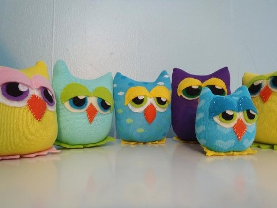 Hootie Hoos - Made from colorful socks and felt.