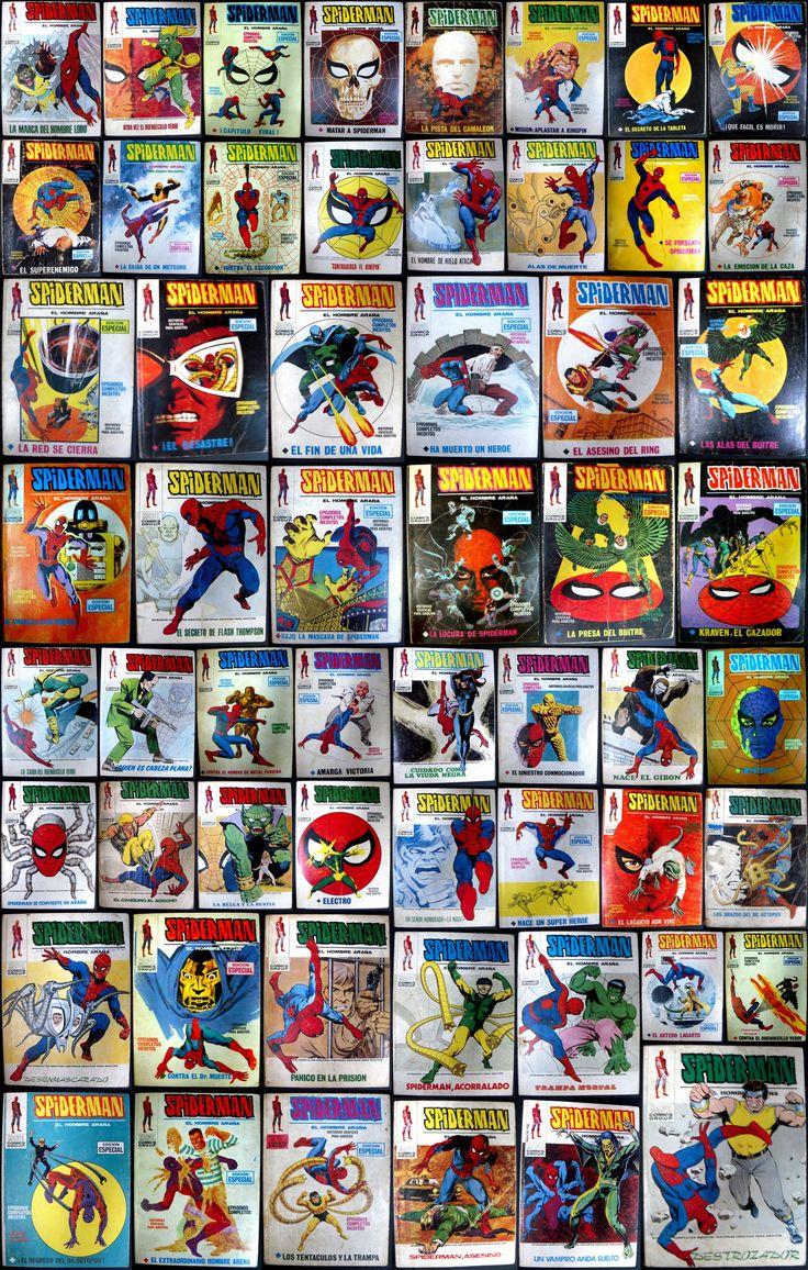 Nuestro amigable vecino Spiderman - todas las portadas de Vértice de la primera etapa