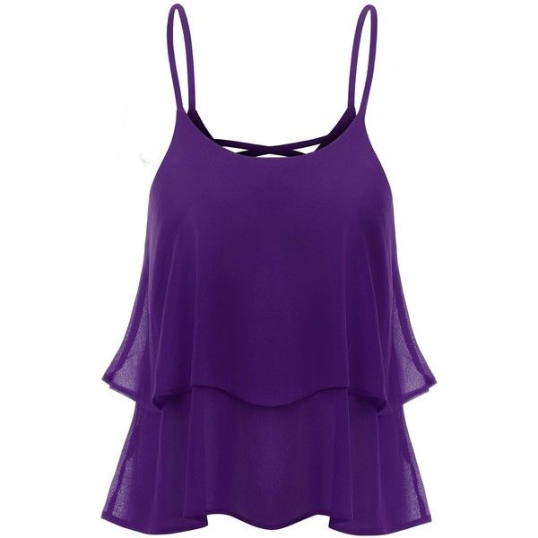 Thanth Strap Shirring Chiffon Cropped Tank Top Cami Blouse (€9,42) ❤ liked on Polyvore featuring tops, tank tops, shirts, tanks, blouses, crop top, strappy tank top, cami tank tops, cami crop top and cami shirt