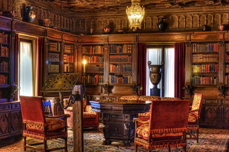 Hearst castle library san simeon ca manly man cave for Literatur innenarchitektur