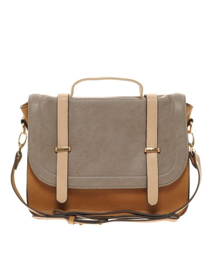 color block satchel