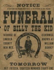 Funeral Notice for Billy the Kid