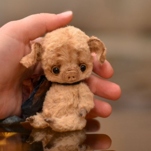 """little piggy 4.5"""" OOAK / Teddy Bears & Pals / Teddy Talk: Creating, Collecting, Connecting"""