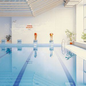 """3,2,1 Mária Švarbová.Svarbova was inspired by the stark architecture of her local pool. 'The building is 80 years old, and dates back to a time when swimming was more social duty than sport – all white tiles and """"No diving"""" signs'"""