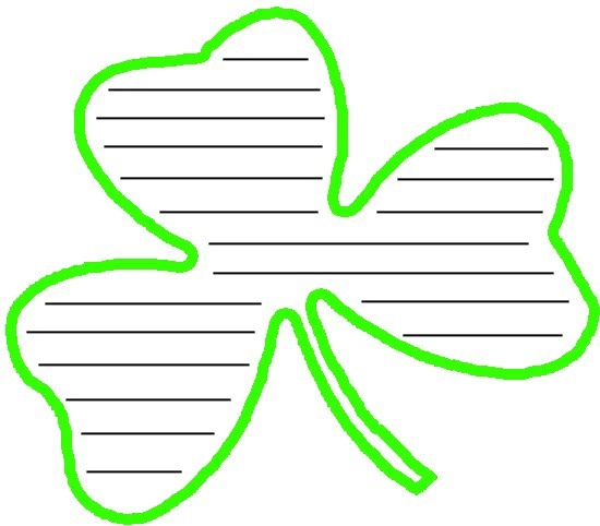 shamrock writing paper Writing paper: st patrick's day - lined and unlined paper with a picture of a shamrock writing paper: st patrick's day.