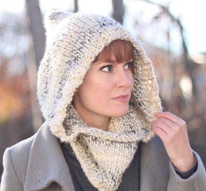 Easy Hooded Cowl Knitting Pattern | Loom knitting, Knitted ...