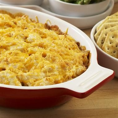 OLD BAY® Hot Crab Dip - We use fat free Mayo, fat free cream cheese and reduced fat cheddar to make our favorite hot appetizer....Yum-a-licious!