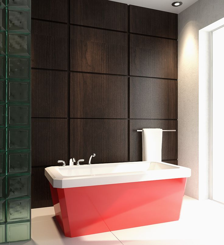 """The Edgewater Model 6634 - 66"""" Acrylic Freestanding Bathtub"""