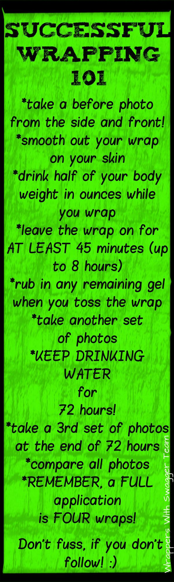 How to get the best results when using It Works Body Wraps! More water=more results! Its simple!  kmenard14.myitworks.com