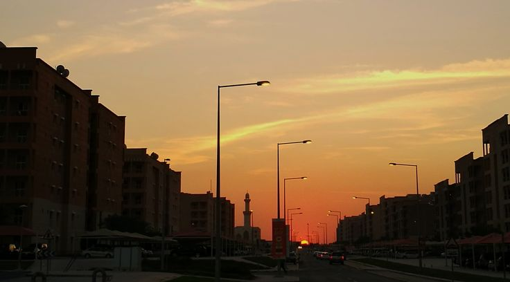 First sunset in Doha