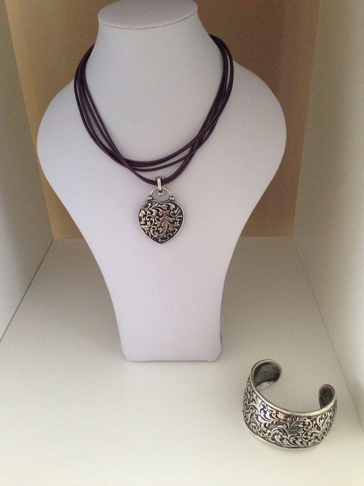 Cuff and pendant from Miglio
