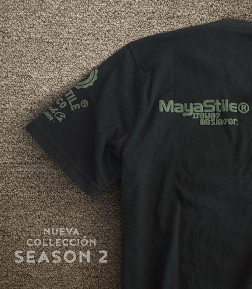 Men's Mayastile logo Trademark T-shirt, Mexican apparel, cool fashion men, Color black, 100% Cotton. Playera Hombre Mayastile logo Trademark T-shirt, ropa mexicana, color negro, 100% Algodón. #TEE #TSHIRT #Graphictee #hechoenmexico #Mexican