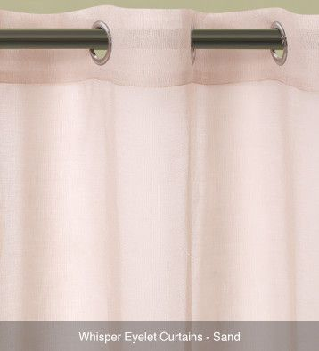 Whisper Sheer Eyelet Curtains – Ready Made Sand #curtains