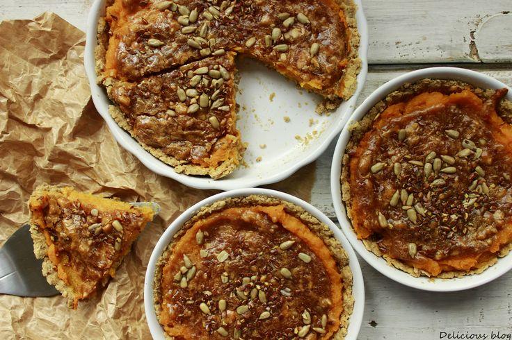 Delicious blog: Dýňový koláč s burákovou polevou