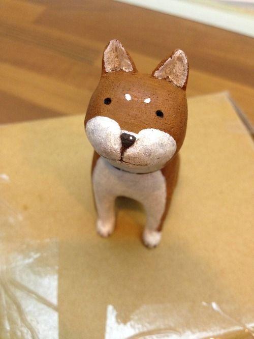 療癒系木雕小動物_柴貴人_黑色 shiba (原木手工雕刻) - 想作室 | Pinkoi