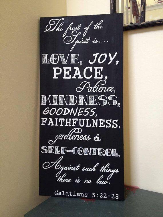 Fruit Of The Spirit Wood Sign Galatians 5 22 Love Joy