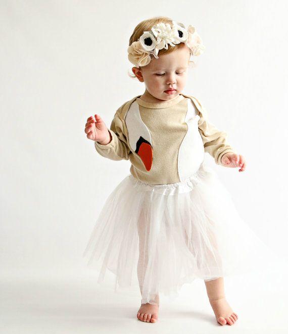 Baby Costume Baby Girl Gift Swan Dress Kid by TheWishingElephant