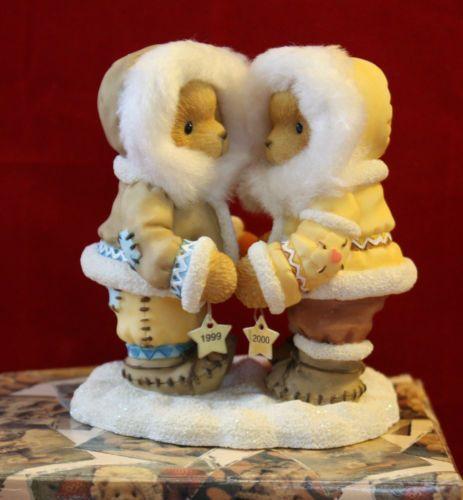Cherished Teddies Norbit & Nyla Figurine A Friend is Someone Christmas Gift NOS
