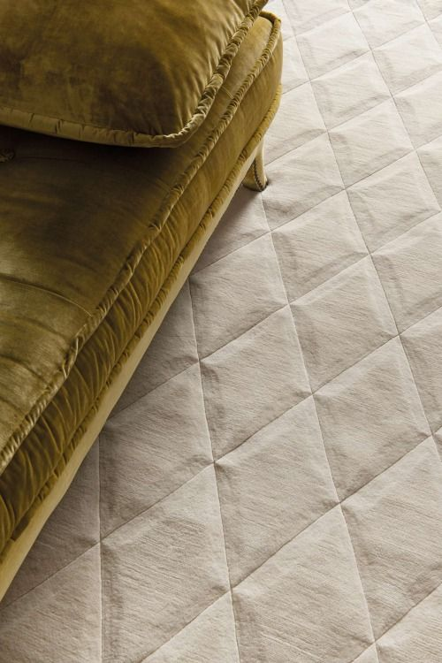 Quilted Carpet/Velour Chaise