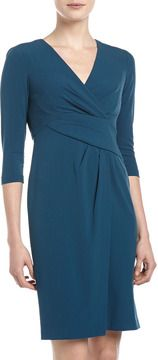 Ivy & Blu Asymmetric-Waist Sheath Dress, Noche Blue on shopstyle.com
