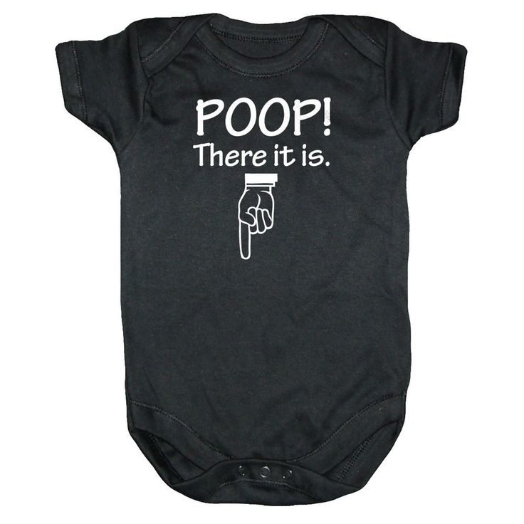 POOP THERE IT IS One Piece Infant Baby Shower Clothes Funny Onsie Shirt 3-12mo
