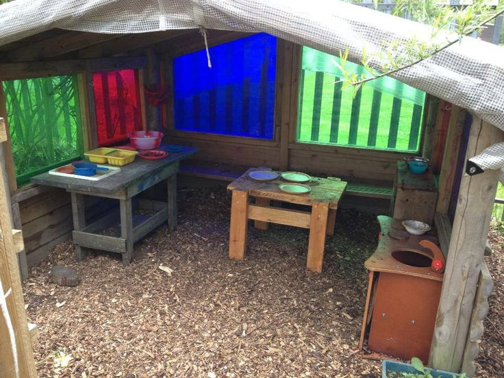 Mud pie kitchen in the nursery garden at Alfreton Nursery School ≈≈
