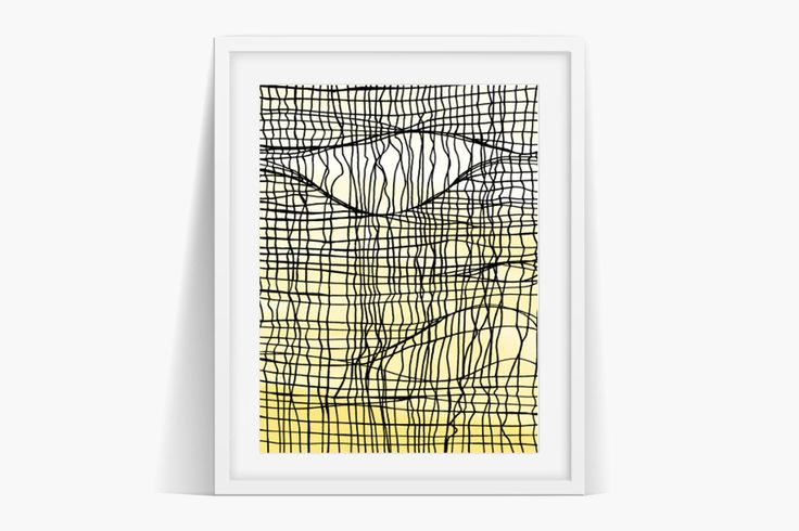 Torn Network Art by Jane's Apple #yellow #net #textures